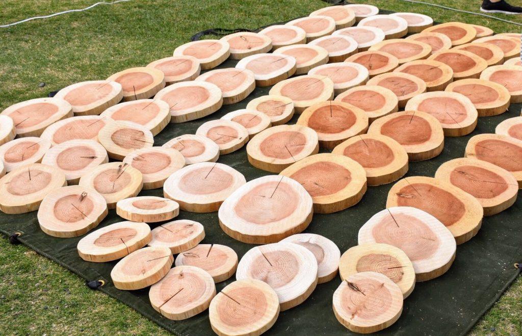 多摩の森の木(Tree)が職人の手によって材(Wood)に変わる